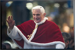 Pope Benedict XVI began the holiday season with his traditional appearance near the Spanish Steps.