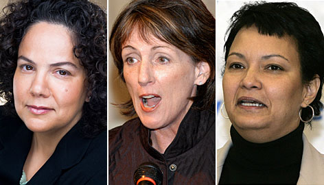 Nancy Sutley, left, Carol Browner and Lisa Jackson will reportedly be tapped by President-elect Barack Obama for his environment-and-energy policy team, according to the Associated Press.