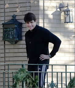 Illinois Attorney General Lisa Madigan is asking the state's highest court to remove embattled Gov. Rod Blagojevich from office. Here, Blagojevich is seen outside of his home on Friday just after welcoming inside a team of clergymen who reportedly prayed with him.