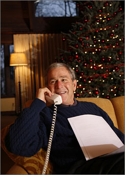 President Bush makes his annual