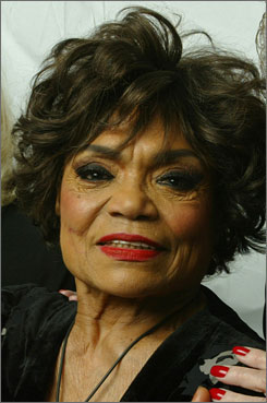 Actress Eartha Kitt in 2004, died of colon cancer and was recently treated at Columbia Presbyterian Hospital in New York.