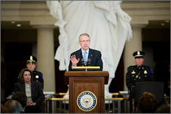 "Senate Majority Leader Harry Reid,D-N.V., said in a statement today that ""anyone appointed by Gov. Blagojevich cannot be an effective representative of the people of Illinois."""