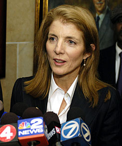 A backlash appears to be building against Caroline Kennedy, pictured here in Buffalo on Dec. 17,  over her bid to get appointed to the U.S. Senate, with some of New York's top political leaders complaining that her pursuit of the job smacks of a sense of entitlement.