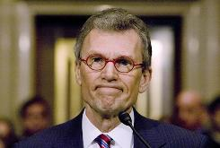 Former Sen. Tom Daschle testifies before the Senate Health, Education, Labor and Pensions Committee hearing about his confirmation for Secretary of Health and Human Services on Capitol Hill on Jan. 8 in Washington, DC.