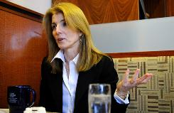 Caroline Kennedy responds during an interview, Dec. 26, 2008 in New York.