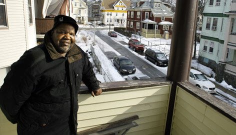 Amos Jones, at his home in Boston's Dorchester neighborhood on Thursday, is seeking help to pay home heating bills this winter. More families are seeking help despite a slight decline in home energy prices, a new study shows.