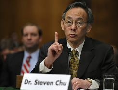 Physicist Steven Chu appears before a Senate committee Tuesday on his nomination to head the Energy Department.