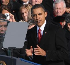 "In his inaugural address, President Obama said: ""We will not apologize for our way of life, nor will we waver in its defense, and for those who seek to advance their aims by inducing terror and slaughtering innocents, we say to you now that our spirit is stronger and cannot be broken; you cannot outlast us, and we will defeat you. For we know that our patchwork heritage is a strength, not a weakness. We are a nation of Christians and Muslims, Jews and Hindus  and non-believers."""