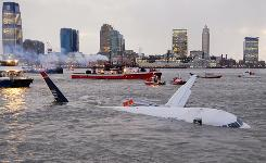 Security tape shows plane's Hudson River landing