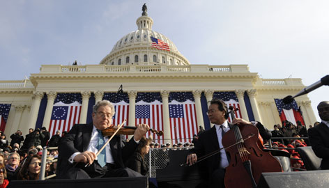 "A spokeswoman said all of the inauguration ceremony's acts ""laid down tape"" in advance. When they did their sound checks on Monday, all but the quartet made the decision to have their live performances broadcast."