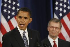 President Barack Obama and his choice for Health and Human Services Secretary Tom Daschle. According to recent surveys, the American people as well as health care experts desire a major overhaul of the system.