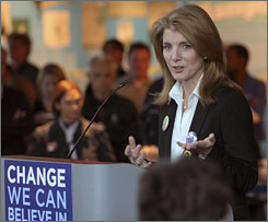 Caroline Kennedy, here campaigning for now President Obama last November, quickly retreated into privacy after abandoning her bid for Hillary Clinton's vacant Senate seat.