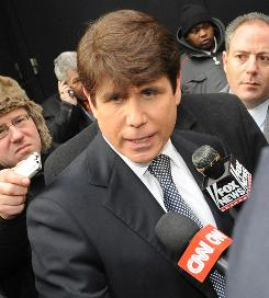 Illinois Gov. Rod Blagojevich exits the building after appearing on ABC's Good Morning America TV show on Jan. 26 in New York.