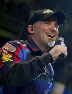 Promoter George Eisenhart Jr. died after he was run over at a monster truck show in Wisconsin on Saturday.