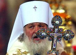 Metropolitan Kirill, leading candidate and acting Russian Orthodox patriarch, opens the congress to elect a new patriarch at Moscow's Christ the Savior cathedral on Jan. 27.