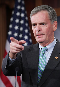 Sen. Judd Gregg, R-N.H., seen on Capitol Hill in Washington in September, told colleagues that if he becomes the third Republican in Obama's Cabinet , his replacement would affiliate with the GOP, denying Democrats' total dominance, his party leader said Sunday.