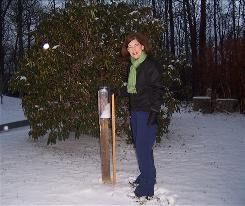 Dana Brackney of Boone, N.C., is part of a national network of weather observers in 39 states who measure rain, snow and hail every day.