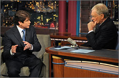 Ousted Illinois Gov. Rod Blagojevich told television host David Letterman on Tuesday that he still believes he'll be vindicated.