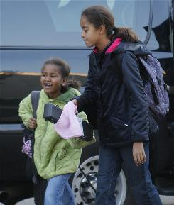 "Sasha Obama, 7, and Malia Obama, 10, go to school in November. ""Right now, (Malia and Sasha) are the most popular girls in school. It doesn't get much better than that when you're a tween,"" says Denise Restauri, founder of a research and consulting firm called AK Tweens."