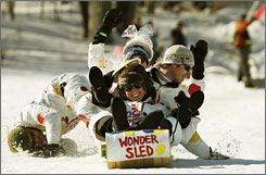 Racers at the National Toboggan Championships focused more on fun than competition, but organizers kept safety in mind.