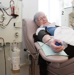 Elizabeth Pascoe have been donating Rh-negative blood for decades to make RhoGAM, which prevents a potentially deadly condition called hemolytic disease of the newborn, or HDN. &quot;We're all put on this Earth for a reason,&quot; Pascoe says, &quot;and I think my reason is to give back.&quot;  