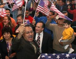 Protesters oppose an anti-illegal immigrant measure before the City Council in Farmers Branch, Texas, in November 2006. The city has steadfastly defended its ordinances despite legal challenges.