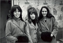 Ronnie Bennett Spector, center, with the Ronettes, Estelle Bennett Vann, left, and Nedra Talley Ross. The Ronettes were one of the 2007 inductees to the Rock & Roll Hall of Fame.