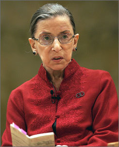 A 2008 photo of Justice Ginsburg. She will turn 76 next month.