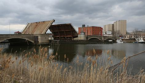 City engineers deemed the Congress Street Bridge irreparable in 1997 and put its drawbridge up to allow river traffic.