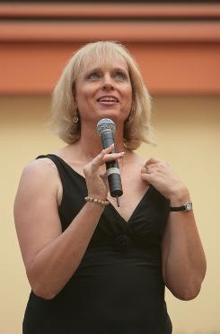 Christine Daniels, speaking at the National Lesbian and Gay Journalists Association convention in San Diego in August 2007, resumed her L.A. Times job as Mike Penner in October 2008.