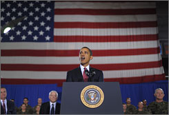 President Obama told Marines at Camp LeJeune in North Carolina on Friday that the U.S. combat mission in Iraq would end in August 2010.