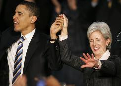 Gov. Kathleen Sebelius worked hard for President Obama's election and was a top surrogate to women's groups during last year's campaign.