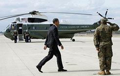 The fleet of 19 presidential helicopters is more than 30 years old.