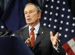 New York Mayor Michael Bloomberg speaks in city hall Jan. 30. Aside from Bloomberg, mayors in Baltimore, Boston, Chicago, Philadelphia and Washington, D.C. also have some control over public schools in their cities.