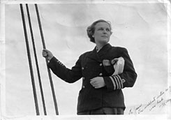 Molly K. Carney is seen in 1939 after receiving her ship's captain license. Carney, who as Molly Kool was the first woman in North America to become a licensed ship captain, died Feb. 25 at her home in Bangor, Maine. She was 93.