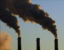 Smokestack emissions rise from the Jeffery Energy Center coal power plant near Emmitt, Kan., on Jan. 10.