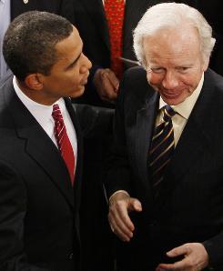 Sen. Joe Lieberman changed his views on President Obama.  He now showers praise on the popular new Democratic president.
