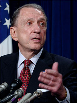 Sen. Arlen Specter cast one of only three Republican votes for the stimulus package that President Barack Obama signed last month.