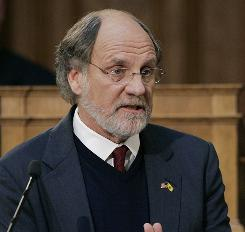 New Jersey Gov. Jon S. Corzine said he was glad the e-mail exchange issue with his ex-girlfriend was resolved.