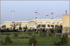 Isreal and the United States fear that if Iran possessed S-300 missiles, it would use them to protect its nuclear enrichment facility in Natanz, seen here, or its first atomic power plant, now being built by Russian contractors at Bushehr.