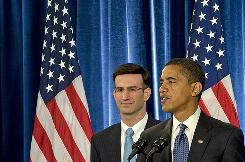 Barack Obama and Peter Orzag, director of Office of Management and Budget, who says Obama's tax changes wouldn't kick in until 2011 and that he's confident the economy will have recovered enough by then to offset any potential losses in charitable giving.