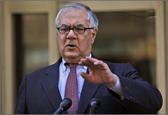 "Rep. Barney Frank, in an interview with a gay news service, called Supreme Court Justice Antonin Scalia a ""homophobe."""