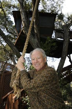 "Stuart Brown enjoys the treehouse built in the trees off his home and office in Carmel Valley, Calif., where he founded the National Institute of Play. ""Play is particularly important during periods that are sustainedly stressful, like now where we don't see an end to this economic downturn,"" he says."