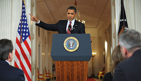 President Obama speaks during a press conference in the East Room of the White House Tuesday in Washington, DC.