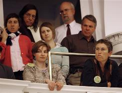 Spectators watch from the balcony Monday as the Vermont Senate debates a bill on gay marriage in Montpelier, Vt. It passed by a margin of 26-4. Similar measures are up for a vote in New Hampshire, Rhode Island, Maine and New York.