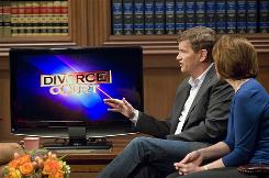 Ted Haggard and his wife, Gayle, appear for an episode of 'Divorce Court' in Los Angeles on March 19. Haggard resigned as pastor of New Life Church in Colorado Springs and as president of the National Association of Evangelicals after a male prostitute from Denver alleged a cash-for-sex relationship with Haggard in November 2006.