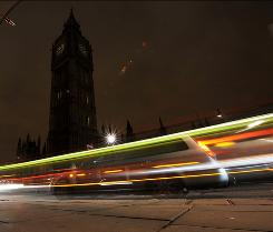 "The Houses of Parliament in London turned off the lights to mark ""Earth Hour"" Saturday. More than 80 countries took part in the annual call to action this year."