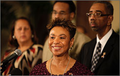 Members of the Congressional Black Caucus have traveled to Cuba and met with President Raul Castro and former President Fidel Castro. Here, Rep. Barbara Lee, D-Calif., chairwoman of the caucus, is seen on Tuesday with, left to right, Democratic Reps. Laura Richardson of California, Emanuel Cleaver of Missouri and Bobby Rush of Illinois during a news converence in Havana.