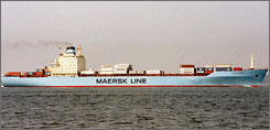 The Maersk Alabama, here in an undated photo, was seized Wednesday 240 nautical miles off Eyl, Somalia.