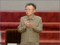 North Korean leader Kim Jong Il, seen here attending a governmental assembly in Pyongyang, North Korea, on Thursday, has appointed an in-law to a high-profile position, leading to speculation that he is preparing for an eventual successor.